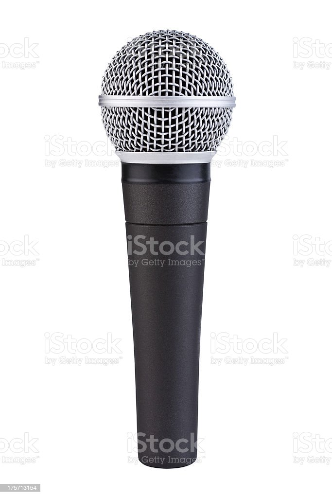 Handheld Microphone with Clipping Path stock photo