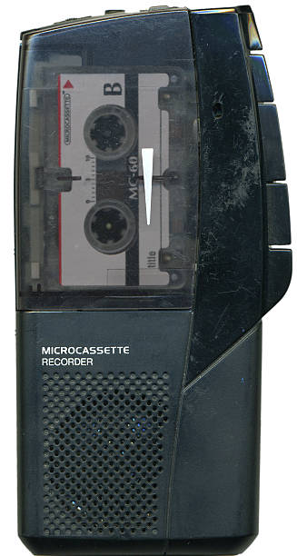 handheld tape recorder - dictaphone stock pictures, royalty-free photos & images