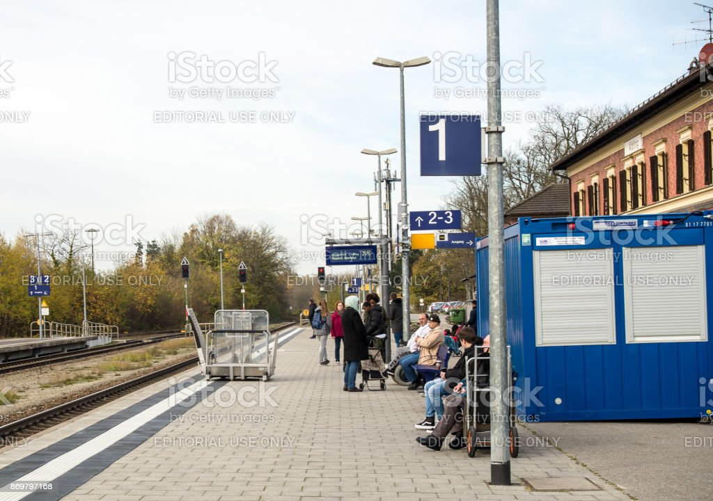 Handicap access on trains stock photo