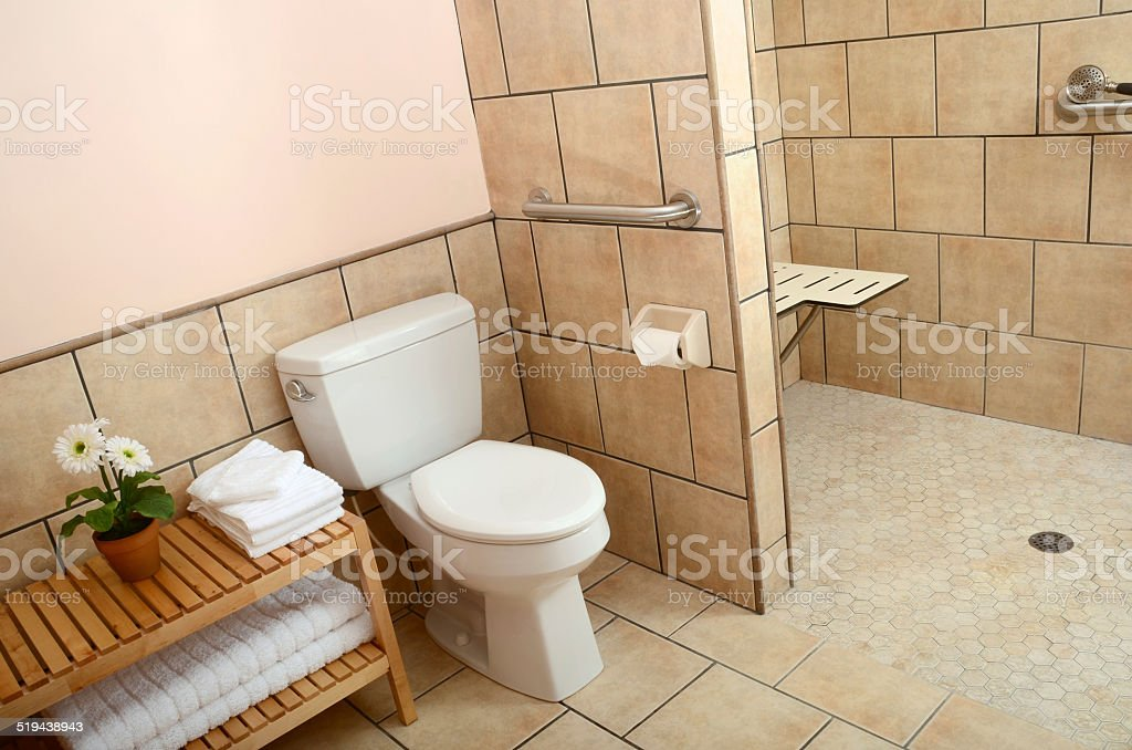 Handicap Accessible Bathroom stock photo