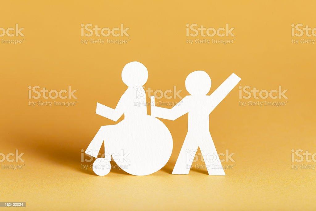 Handicap - paper cutouts royalty-free stock photo