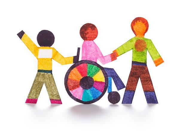 Handicap - paper cutouts stock photo