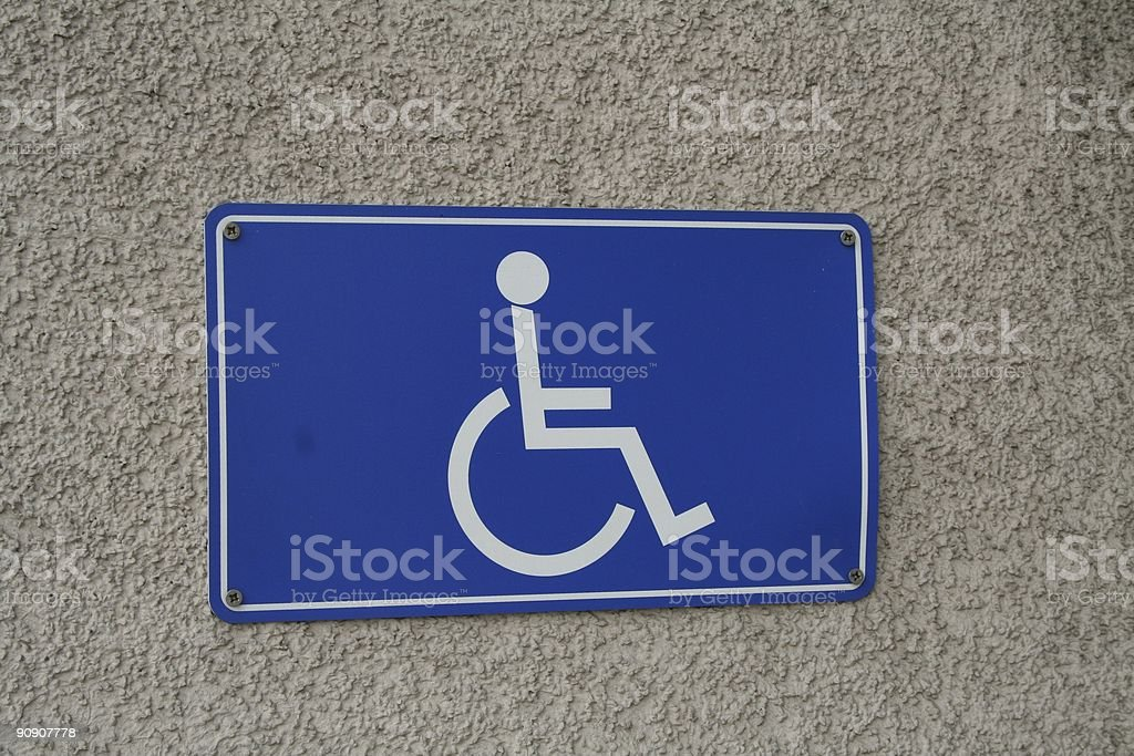 Handicap parking 3 royalty-free stock photo