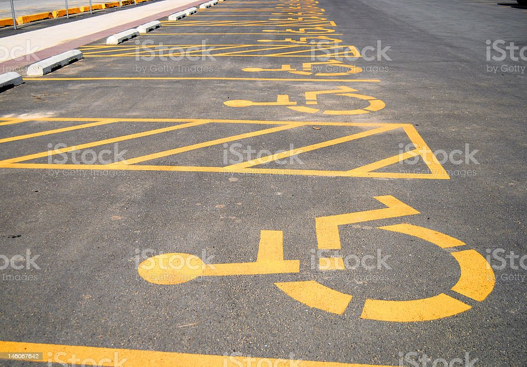 Handicap parking lot stock photo