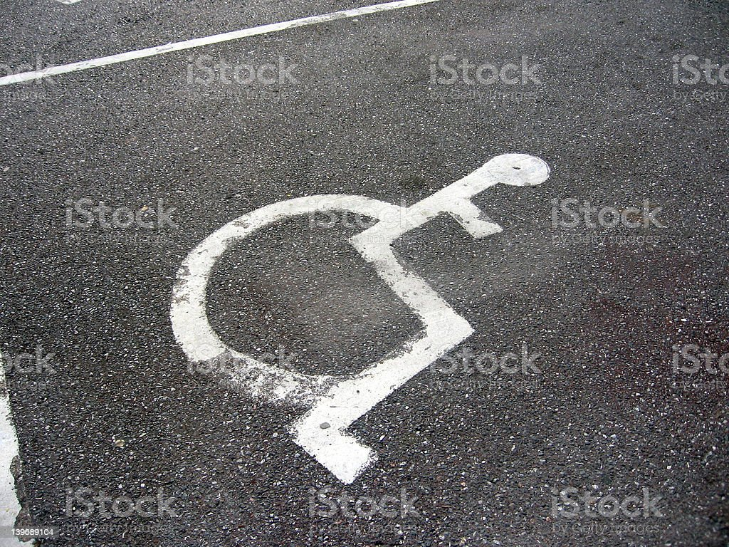 Handicap Parking Place royalty-free stock photo