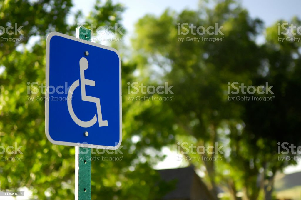 Handicap Parking Sign royalty-free stock photo