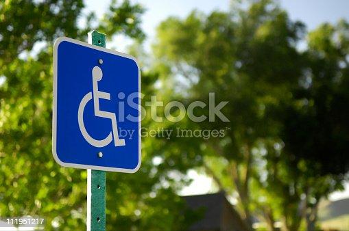 A handicap parking sign