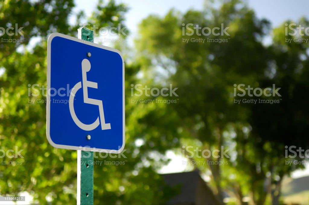 Behindertengerechte Parkplätze - – Foto