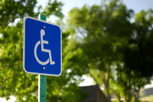 Handicap Parking Sign stock photo