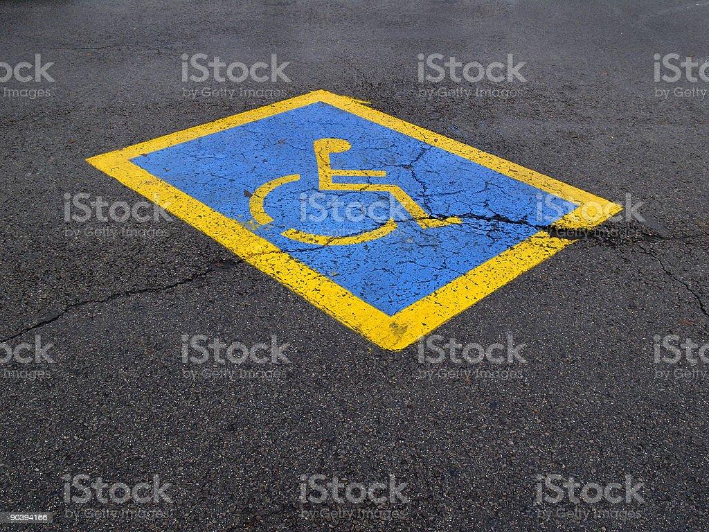 Handicap Parking Spot stock photo