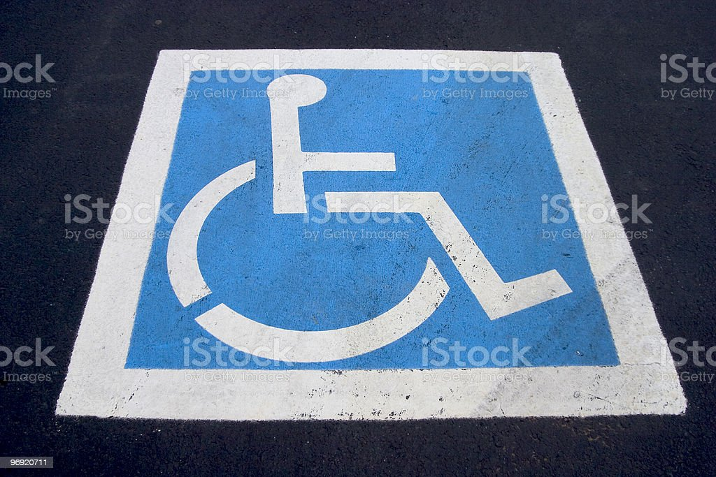 Handicap Parking Spot royalty-free stock photo
