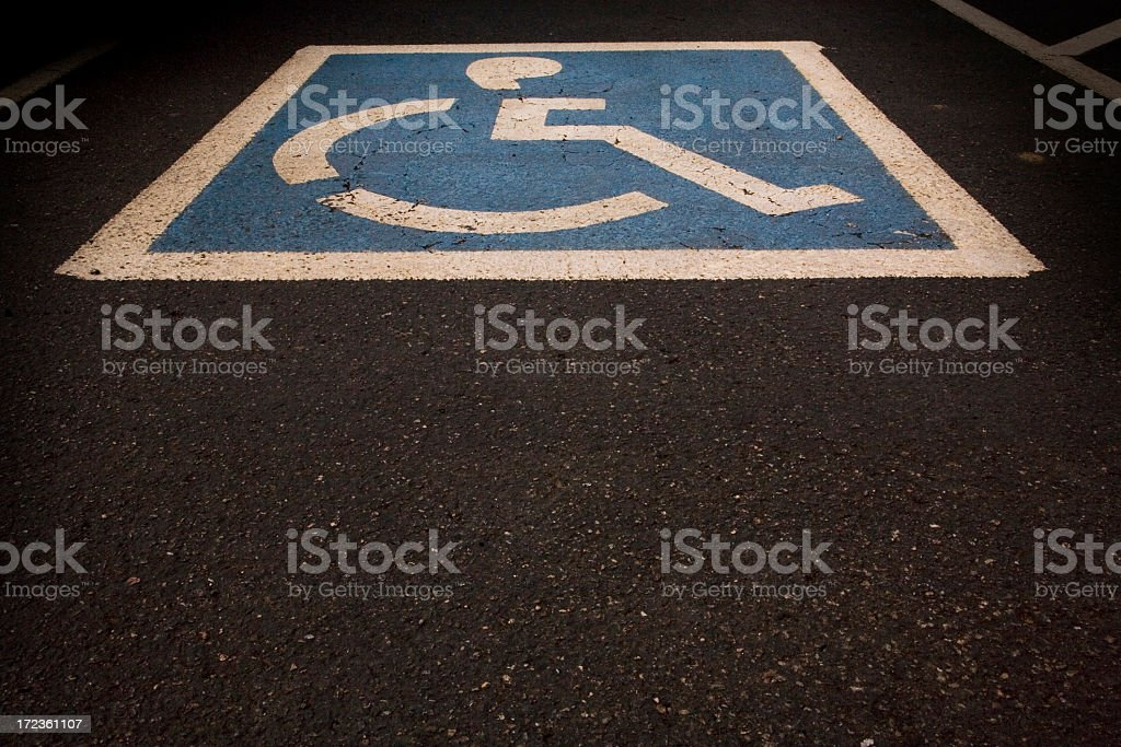handicap parking stall stock photo