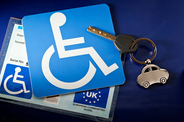 Handicap Parking UK stock photo