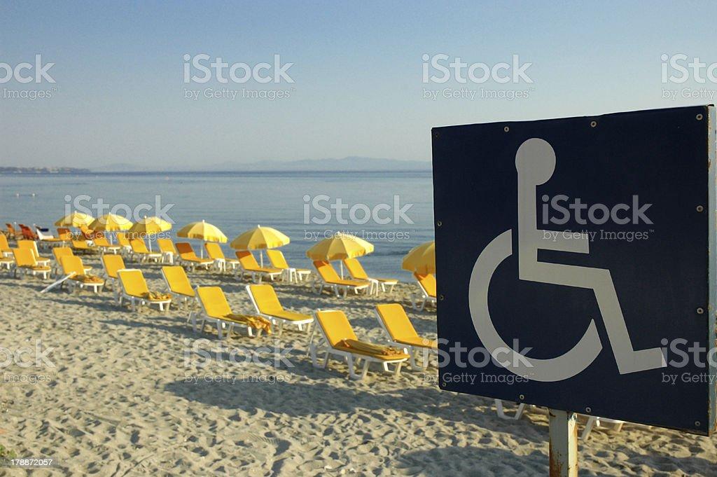 Handicap sign royalty-free stock photo