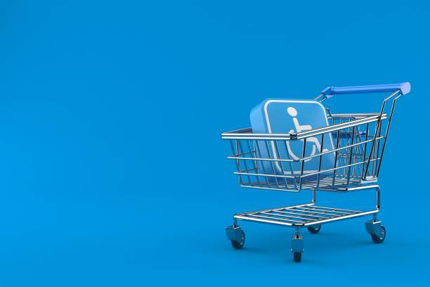 Handicap-Symbol im Warenkorb – Foto