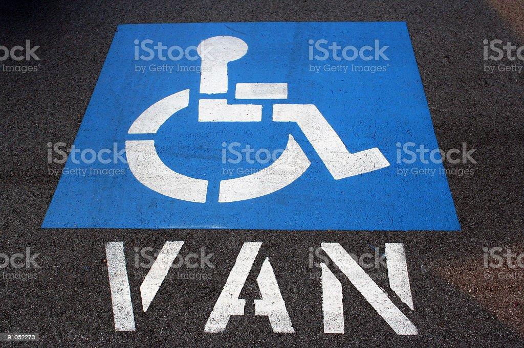 Handicap Van Parking stock photo
