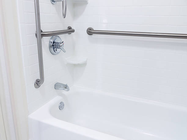 Handicapped Access Bathroom Shower stock photo