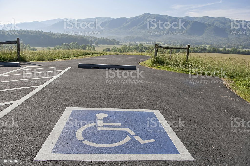 Handicapped access to nature royalty-free stock photo