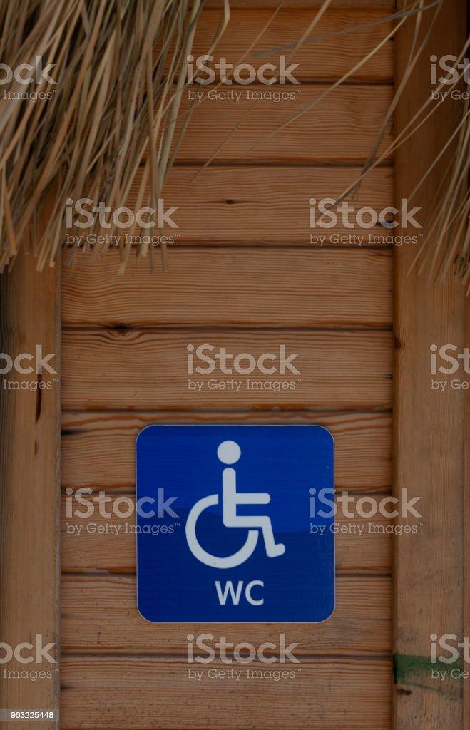 Behinderte zu markieren, an der Tür vor dem Bad – Foto