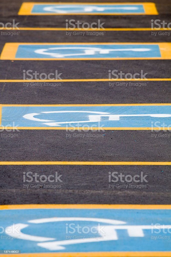 Handicapped parking only royalty-free stock photo