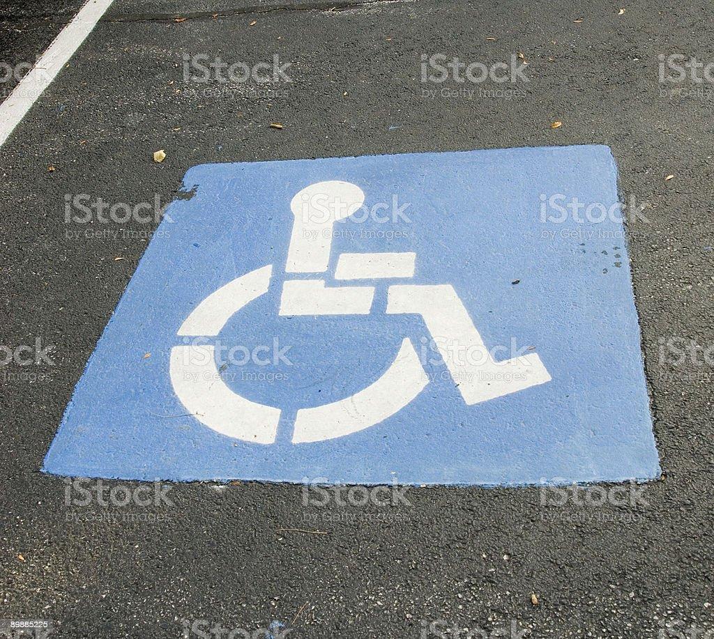 Parcheggio per disabili foto stock royalty-free