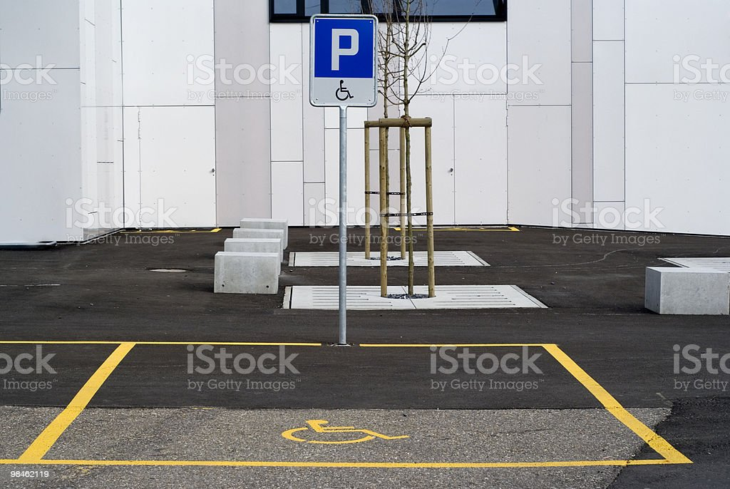 Handicapped parking royalty-free stock photo