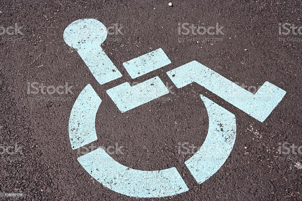 Barrierefreier Parkplätze Lizenzfreies stock-foto