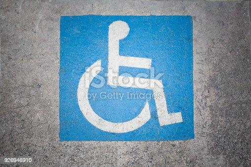 666724598istockphoto Handicapped parking spot marking 926946910