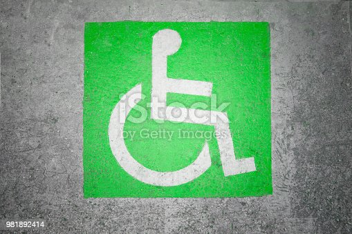 666724598 istock photo Handicapped parking spot marking 981892414