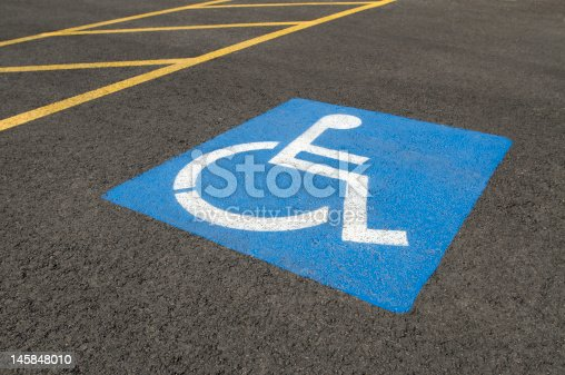 Low-angle close-up of a handicapped