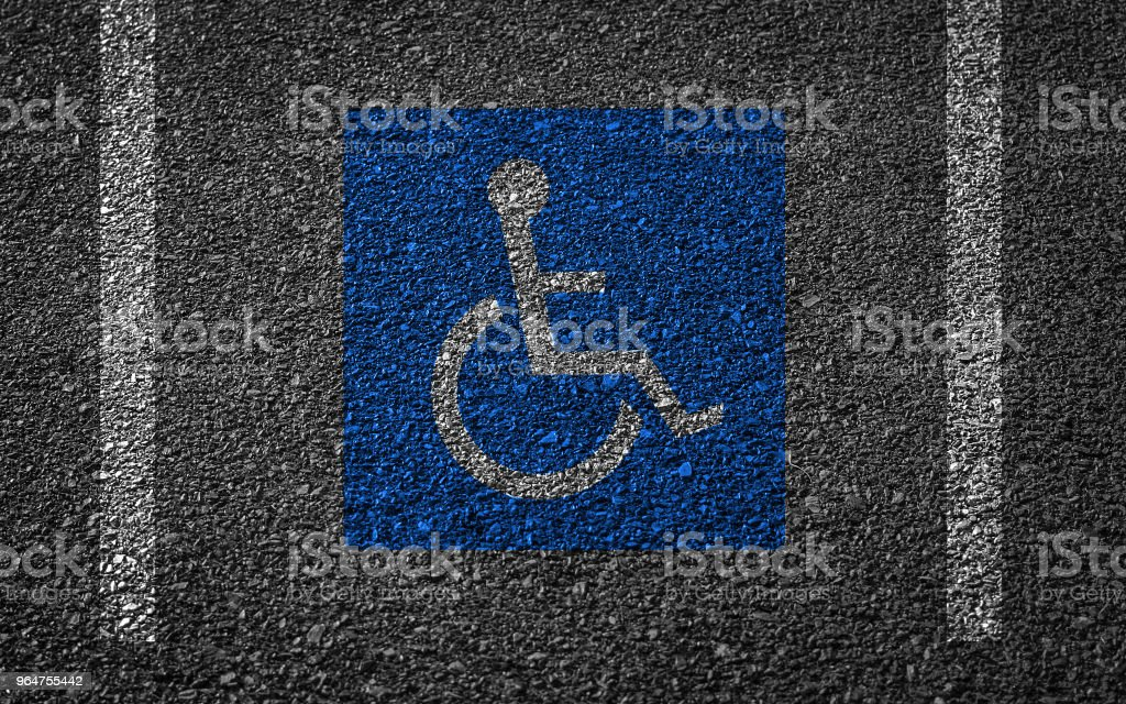 handicapped parking spot royalty-free stock photo