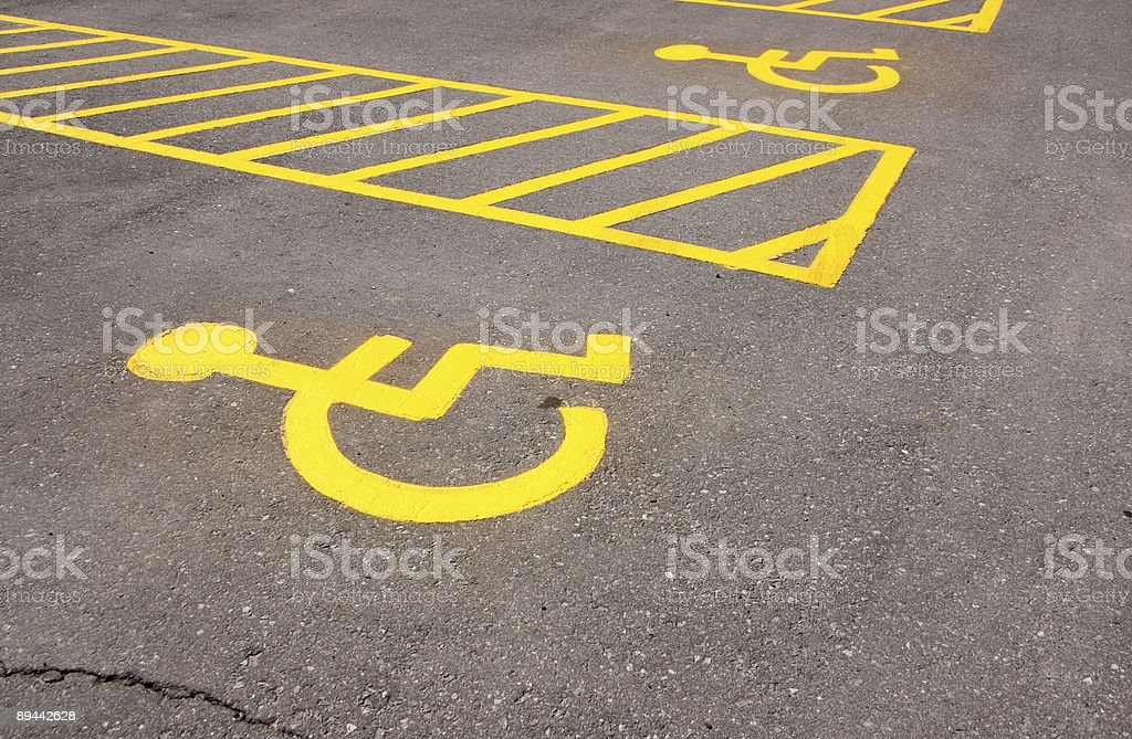 Handicapped Parking Spots royalty-free stock photo