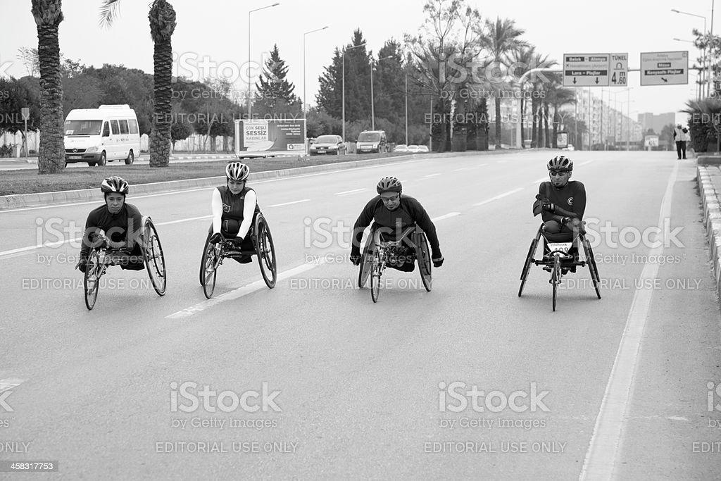 Behindertengerechte Rennteilnehmer – Foto