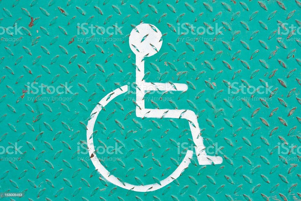handicapped symbol royalty-free stock photo