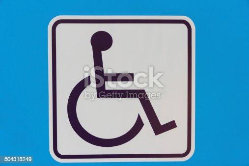 480193462 istock photo Handicaps sign restroom modern 504318249