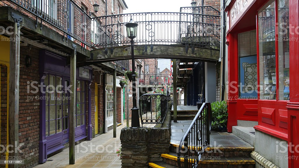 Handicraft village in Derry or Londonderry stock photo