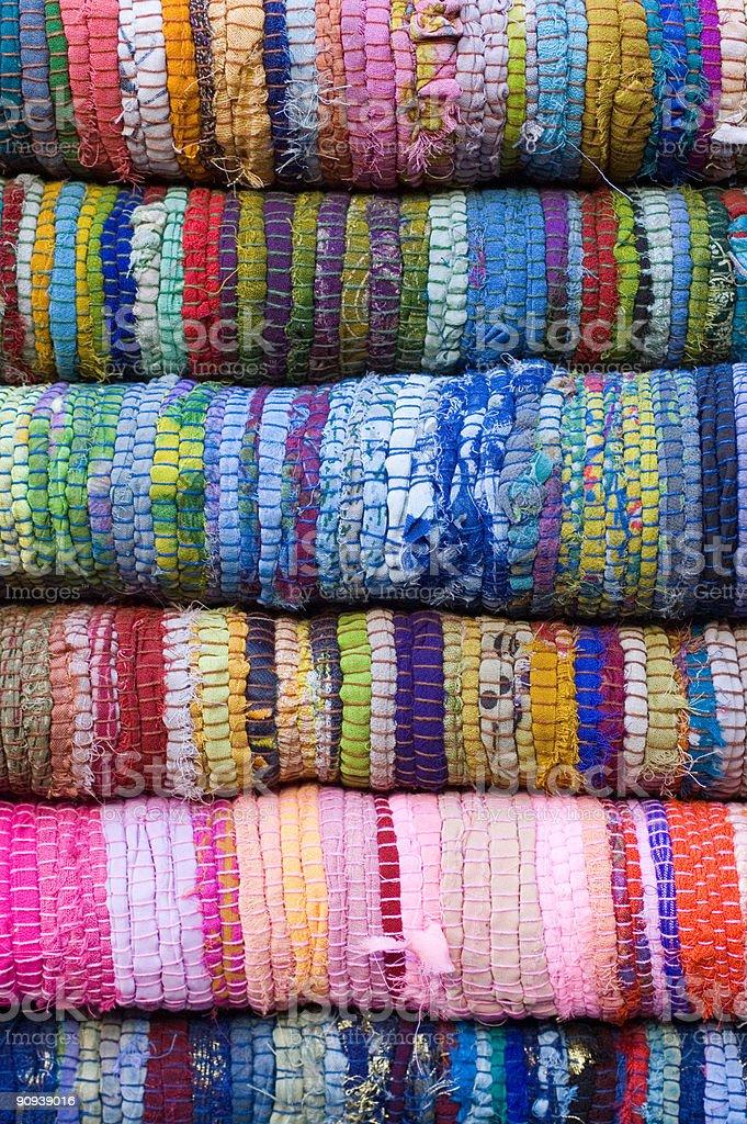 Colorful traditional handmade woven. Macro, good backgrounds.