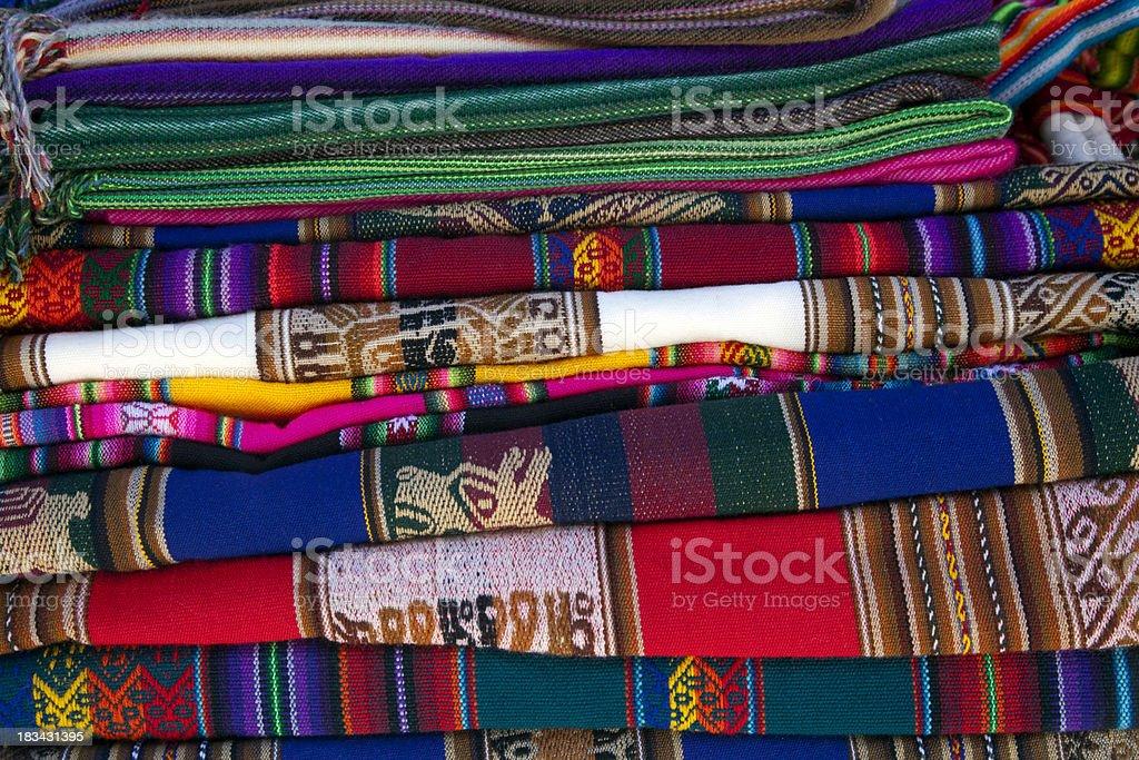 Handicrafts in Peru royalty-free stock photo