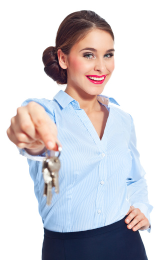 Handing Keys Stock Photo - Download Image Now