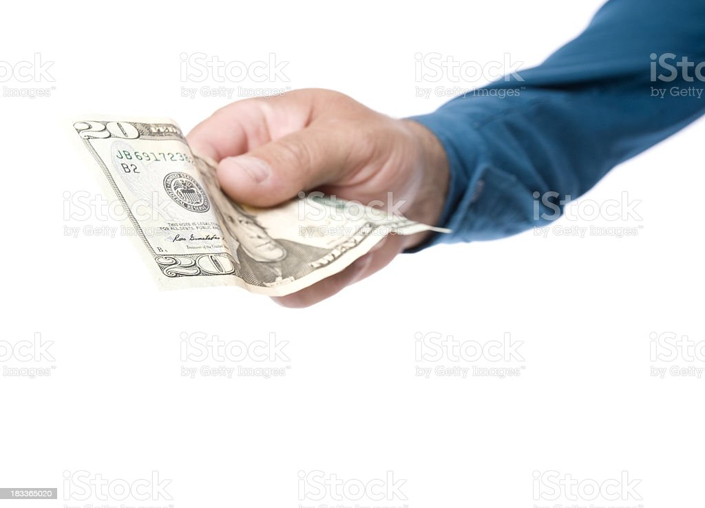 Handing out Money. royalty-free stock photo