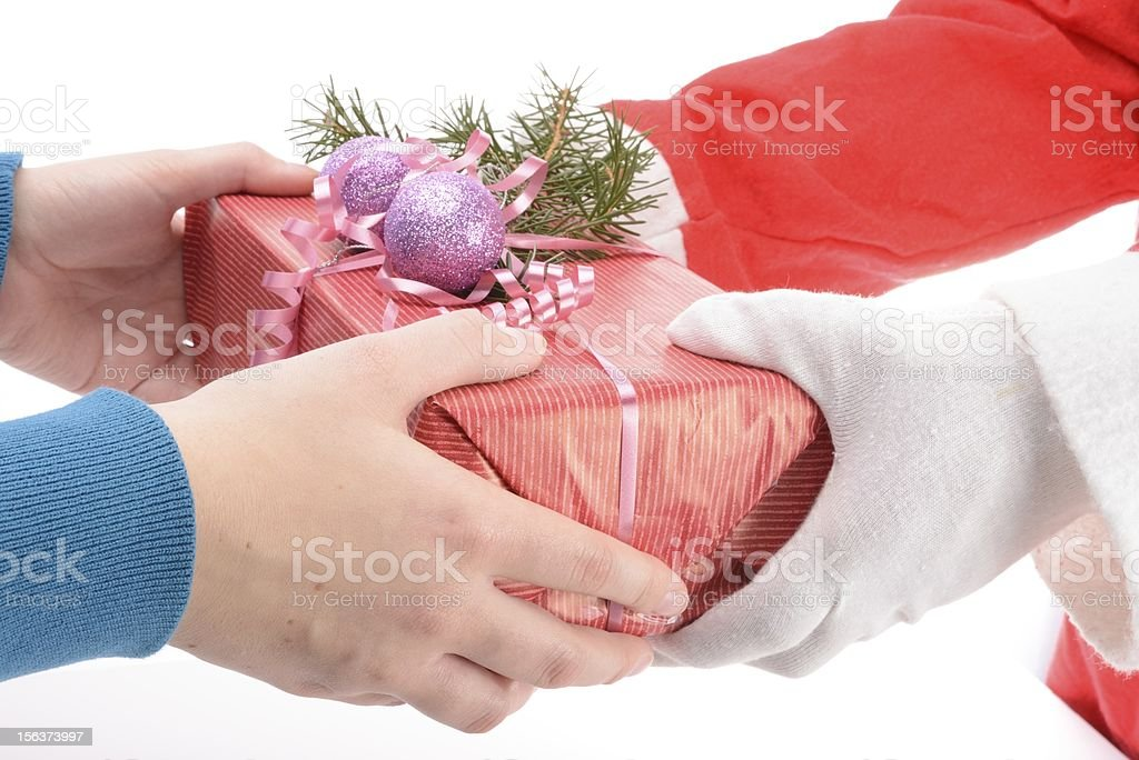 handing out of presents royalty-free stock photo