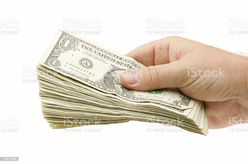 Handing Over Money royalty-free stock photo
