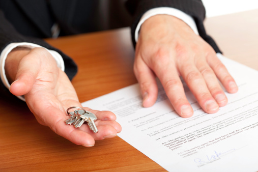 Handing Over Of House Keys Stock Photo - Download Image Now
