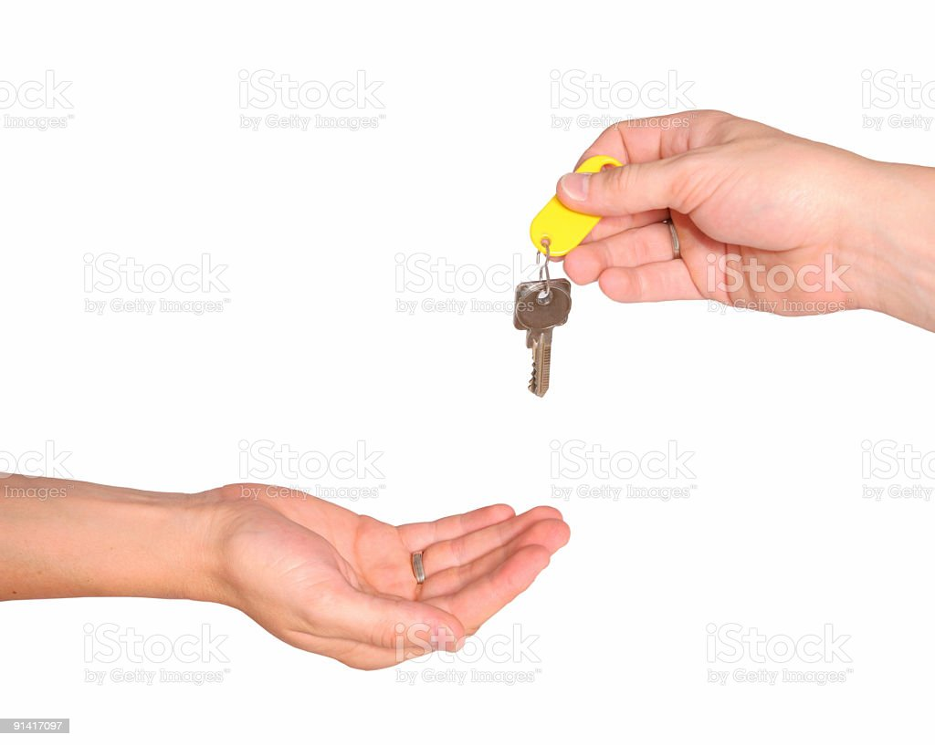 Handing over the keys stock photo