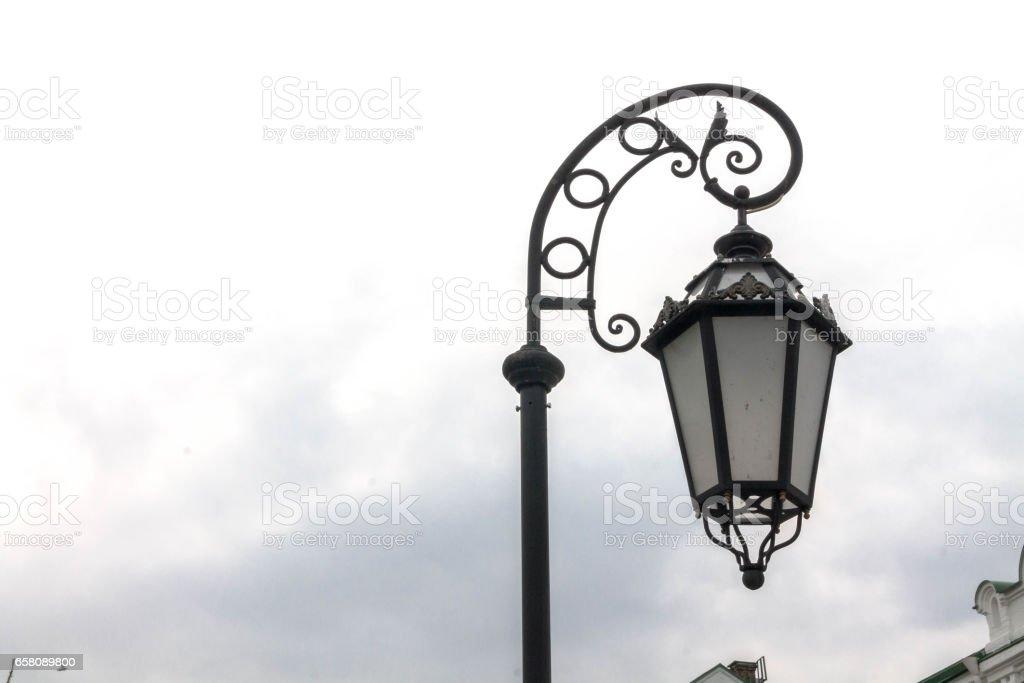Handing street lamp. Street lamp. royalty-free stock photo