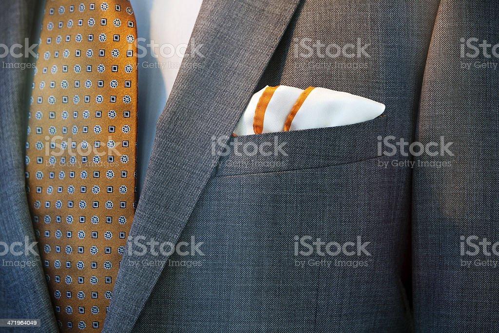 Handkerchief, jacket, tie and shirt foto