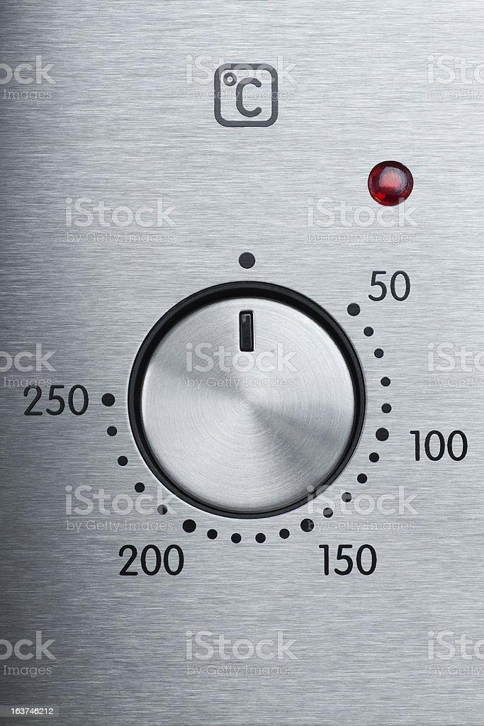 Handle of oven stock photo