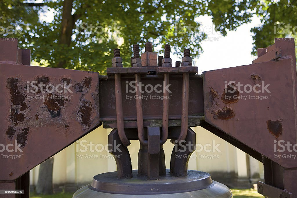 Handle the bell stock photo