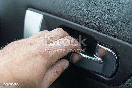 Handle to open the car from the inside.