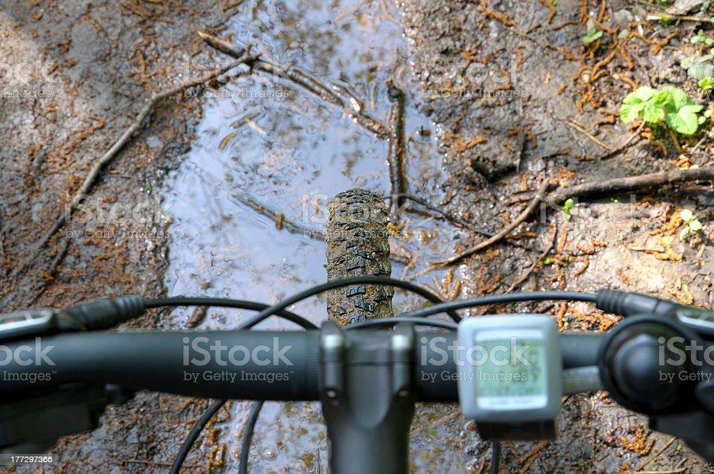 handlebar and speedometer royalty-free stock photo